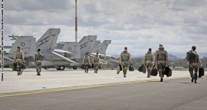 Air Force Aircraft & Personnel Depart For The Middle East